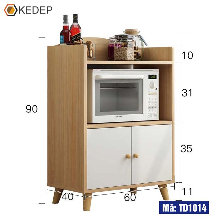 Kệ bếp vân gỗ TD1014